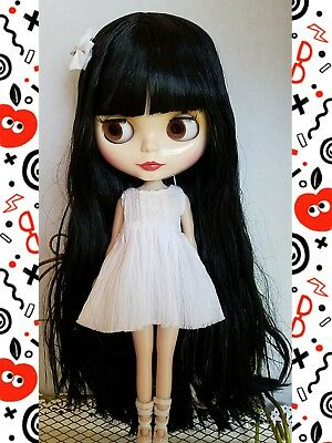 Factory Type Neo Blythe Doll Black Hair with Outfit OR Stand
