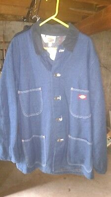 Vintage Dickies Denim Jacket / Coat men's Medium nos a182