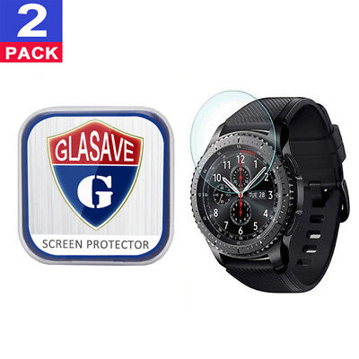 (2 Pack) GLASAVE Tempered Glass Screen Protector For Samsung Gear S3 Frontier