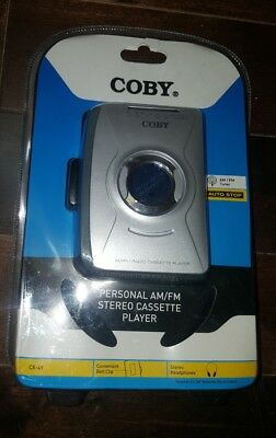 NEW Coby CX-49 Personal Stereo Cassette AM/FM Radio Player Headphones & Earbuds