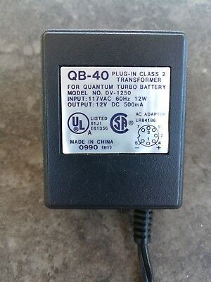 Quantum Instruments Turbo Battery Charger Transformer QB-40 AUTHENTIC UL listed