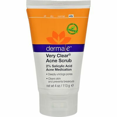 Derma E Very Clear Cleansing Scrub 4 fl oz
