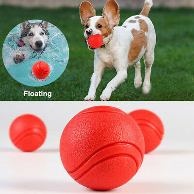 Solid Ball For Dog Toy Rubber Bite Resistant Fetch Pet Puppy Chew Playing S/M/L