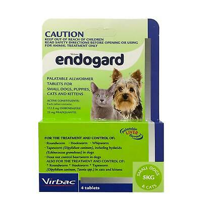 Endogard Broad Spectrum All Wormer for Small Dogs & Cats to 5kg (Green Box) 4-pk