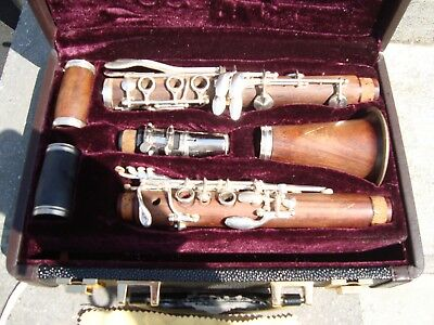 Vintage Clarinet Gigliotti Wood & Silver