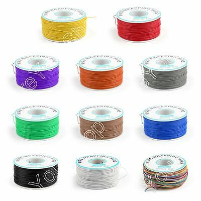 200M 30AWG Electrical Wrapping Wire Single Core OK Line Airline Copper 172g 105℃