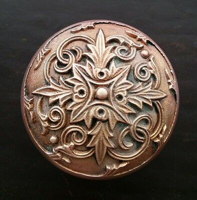 Antique Victorian Eastlake Art Nouveau Brass Bronze Door Knob Ornate H 52200