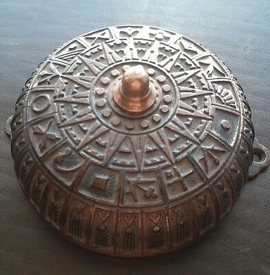 "Antique Victorian Eastlake Door Bell Beautiful Ornate Nearly 5"" diameter 1876 82"