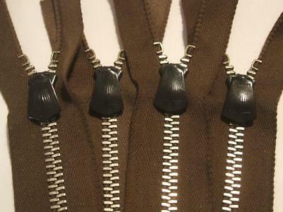 4 NEW VINTAGE 30s 40s TALON ART DECO HOOKLESS LOCKING FANNED ZIPPERS REPLACEMENT