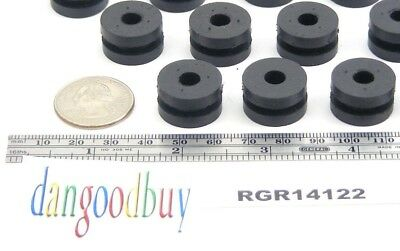 "6 Rubber Grommets  1/4"" Inner Diameter -  Fits  1/2"" panel hole"
