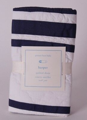 NWT Pottery Barn Kids Harper Gray nursery small sham crib