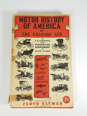 Vintage Motor History of America or The Gasoline Age 1937 Floyd Clymer Cover Dmg