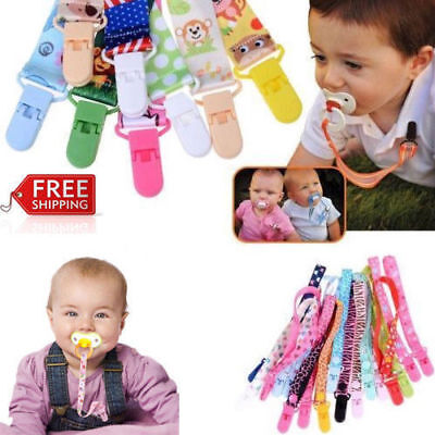 Kids Baby Dummy Soother Nipple Strap Pacifier Clip Chain Leash Holder Anti-lost