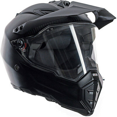 AGV NEW AX-8 Dual Carbon Matt Black Adventure Off Road Dual Sport Helmet
