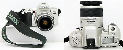 Minolta DYNAX  404Si SLR 35mm Film Camera w/AF Zoom 28-80mm 1:3.5(22)-5.6D Lens