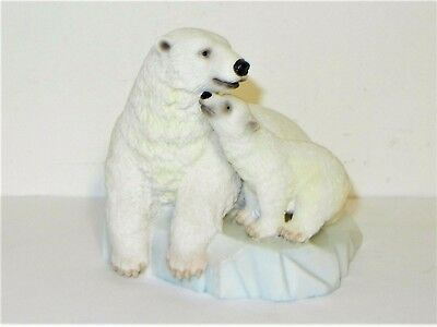 POLAR BEAR with CUB ON ICE 2003 UNITED DESIGN CORP EXCELLENT CONDITION