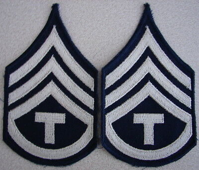 "Original WW2 US Army TECH ""T"" STAFF SGT.Chevrons - Pair"