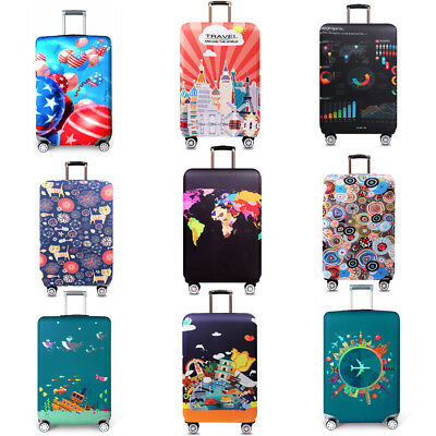 "18-32"" Elastic Thicker Luggage Cover Travel Suitcase Protector Dust-proof Cover"