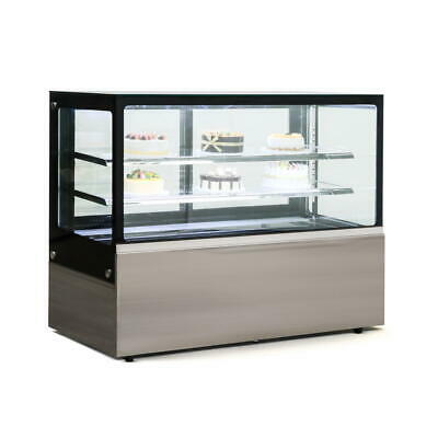 Commercial Display Fridge Cake Showcase 3 Layers 1500mm length heated glass