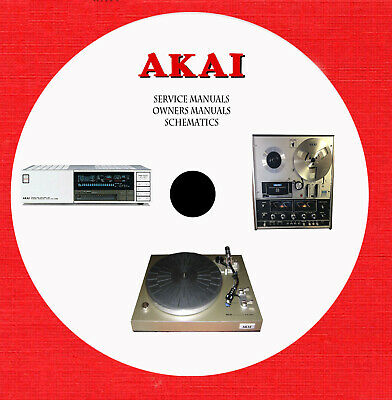 Akai Audio Video Hi-Fi Repair Service and owner manuals on 1 dvd in pdf format