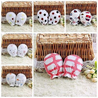 10Pairs Newborn Infant Soft Cotton Boy Girl Handguard Anti Scratch Gloves Mitte