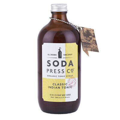 NEW Soda Press Co Classic Indian Tonic Syrup 500ml