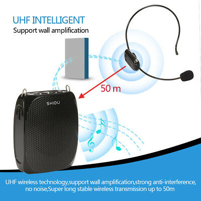 Wireless Voice Amplifier for Teaching Guiding Speaker & Headset Microphone 10W