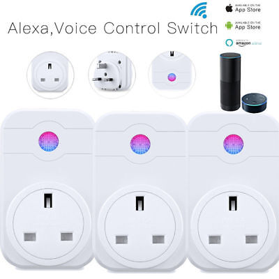 10 x Wireless WIFI Smart APP Remote Control Timer Socket UK Plug Home Automation