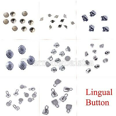 DE 8 Types Dental Orthodontic Lingual Buttons for Dental Use