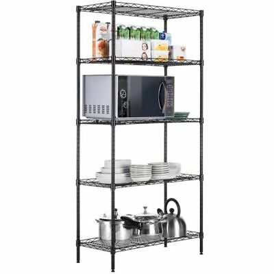 "5 Tier Muscle Rack 24""W x 14""D x 59""H 5-Shelf Steel Shelving Garage Storage Unit"