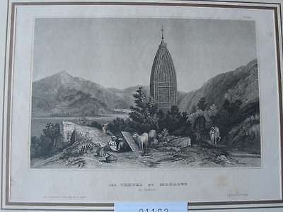 91102-Asien-Asia-Indien-India-Tempel Mahadeo-Stahlstich-Steel engraving