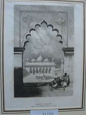 91100-Asien-Asia-Indien-India-Agra-Pallast Mogul-Stahlstich-Steel engraving