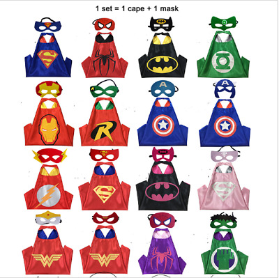 kid birthday party favors and ideas Cape Superhero Cape Kid  (1 cape+1 mask) UK