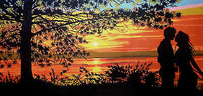 "Needlepoint tapestry gobelin printed canvas ""Twilight"" #17.191"