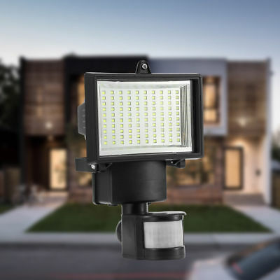 Lámpara Luz de Pared Con Sensor Movimiento de Energía Solar Impermeable 100 LED
