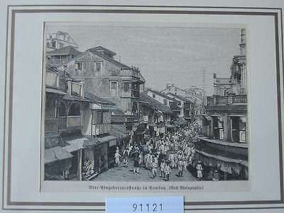 91121-Asien-Asia-Indien-India-Bombay-Mumbai-T Holzstich-Wood engraving
