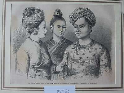 92133-Asien-Asia-Vietnam-Anam-König Roi Muong You-T Holzstich-Wood engraving