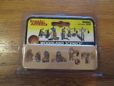 Woodland Scenics / SCENIC ACCENTS #A2128 N SCALE - ROOFERS w Free ship!