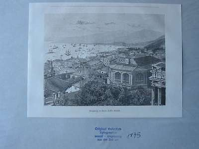 93499-Asien-Asia-China-Hongkong-T Holzstich-Wood engraving