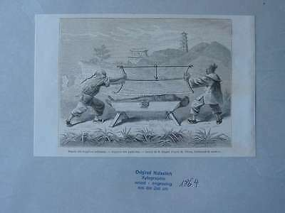93588-Asien-Asia-China-Folter Torture-T Holzstich-Wood engraving