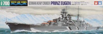 Tamiya 1/700 Waterline Prinz Eugen Ger Heavy Cruiser Kit 31805