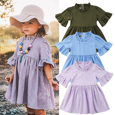 AU Toddler Kids Baby Girls Summer Princess Dress Party Wedding Pageant Dresses