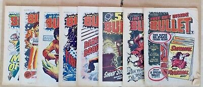 Bullet (issues 2 to 147) & Warlord (issues 220 to 277) Comics - 203 comics