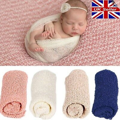 Newborn Baby Stretch Textured Knit Rayon Wrap Cocoon Photo Photography Prop @UK