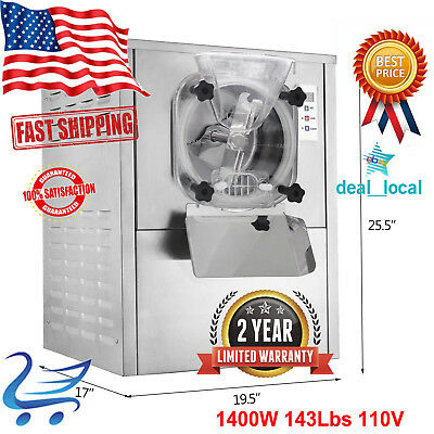 Commercial Frozen Hard Ice Cream Machine 1Flavor  Maker 20L/H 1400W 143Lbs 110V