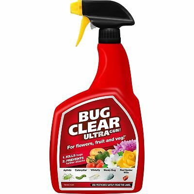 1Ltr Miracle Gro Bug Clear Ultra Gun  Bug Clear Insecticide Spray BugClear™