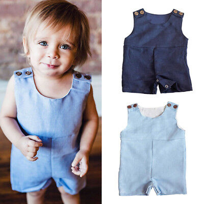 Fashion Infant Baby Girls Boy Playsuit Jumpsuit Rompers Bodysuit Outfit Clothes