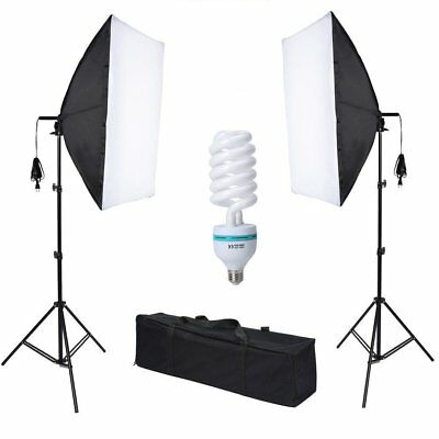 New Photo Studio Video Softbox Soft Box Light Lamp Stand Continuous Lighting Set