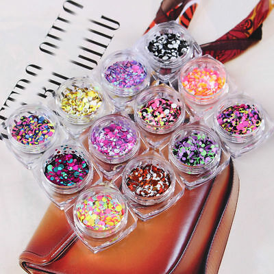 Chunky Mixed Glitter Pot-Nail Face Eye Shadow Body Festival Dance Cosmetic Club