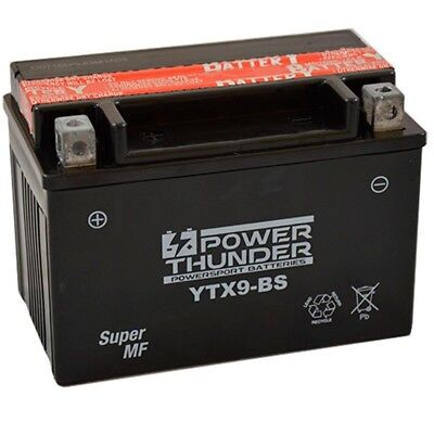 Batería Power Thunder YTX9-BS , 12v. 8Ah. Equivalente DTX9-BS, ETX9-BS PTX9-BS